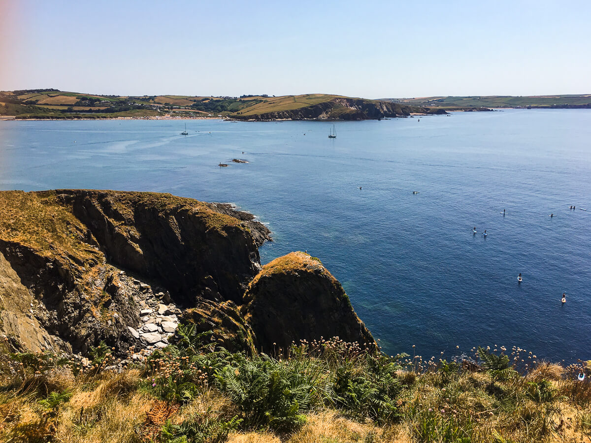 Paddle boarding around Burgh Island in Devon with Discovery Surf