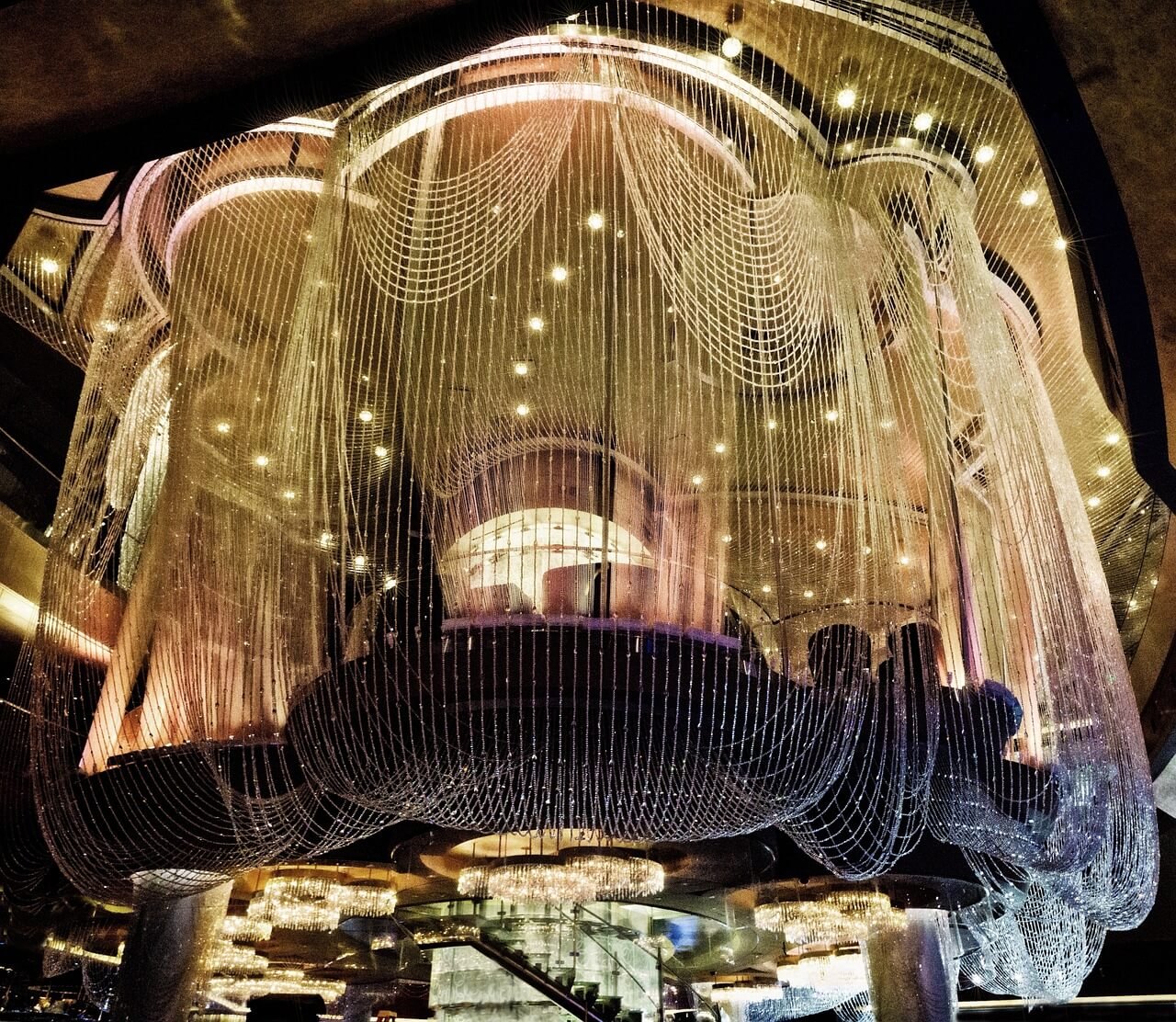 A summer whisky cocktail at the Chandelier Bar in the Cosmopolitan Hotel in Las Vegas