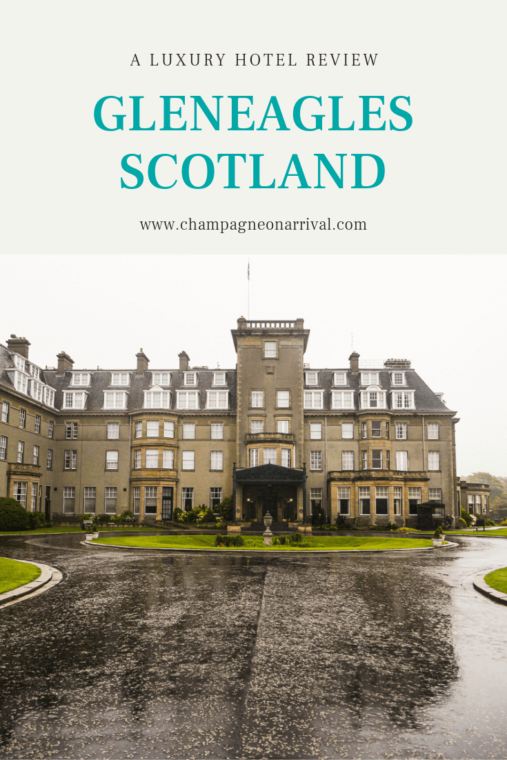 A luxury hotel review of the iconic Gleneagles hotel in Scotland by luxury travel blogger Rachael Gunn #scotland #gleneagles #luxuryhotel