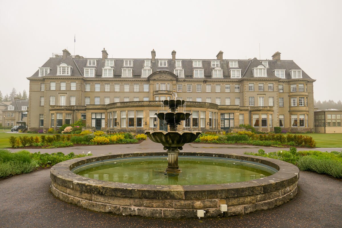 The grounds of Gleneagles, a luxury hotel in Scotland