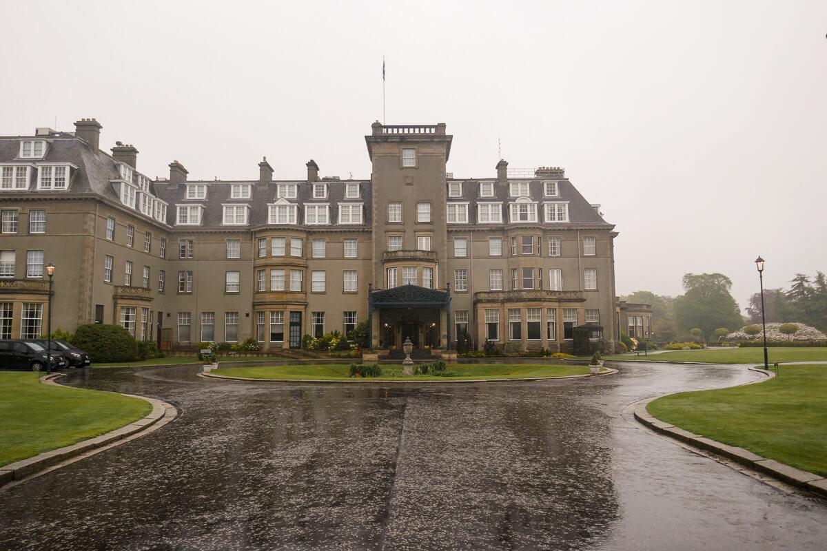 Entrance to Gleneagles in Scotland
