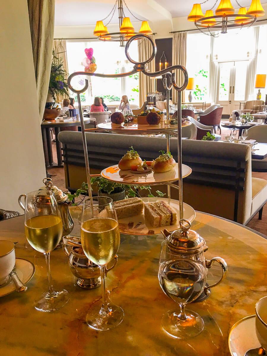 Afternoon tea in the Glendevon Room at Gleneagles