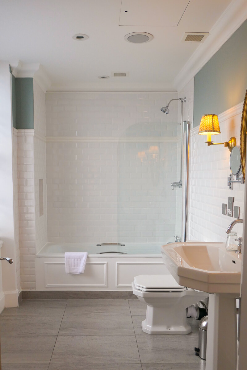 The bathroom of our large sovereign family suite