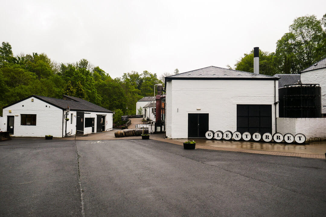 The entrance of the Glenturret whisky distillery in Perthshire, Scotland