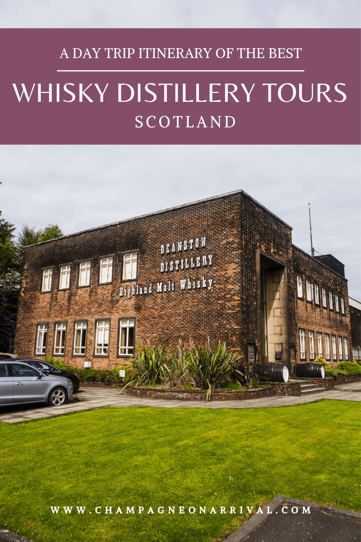 A day trip itinerary of whisky distilleries in Perthshire, Scotland. Easily doable from Edinburgh, this is everything to need to know to visit Deanston, Dewar's Aberfeldy, Glenturret and Edradour whisky distilleries #whisky #whiskydistilleries #whiskydistilleryscotland #scotlandtravel
