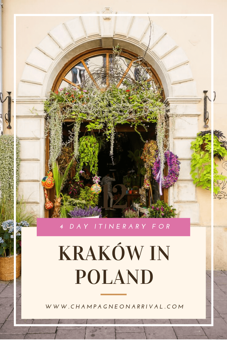 A four day itinerary for Kraków in Poland, including lots of tips to get the most out of your trip! Kraków is a beautiful old and classically European city, a perfect location for a long weekend. #Krakow #poland #itinerary #wawelcastle #oldtown