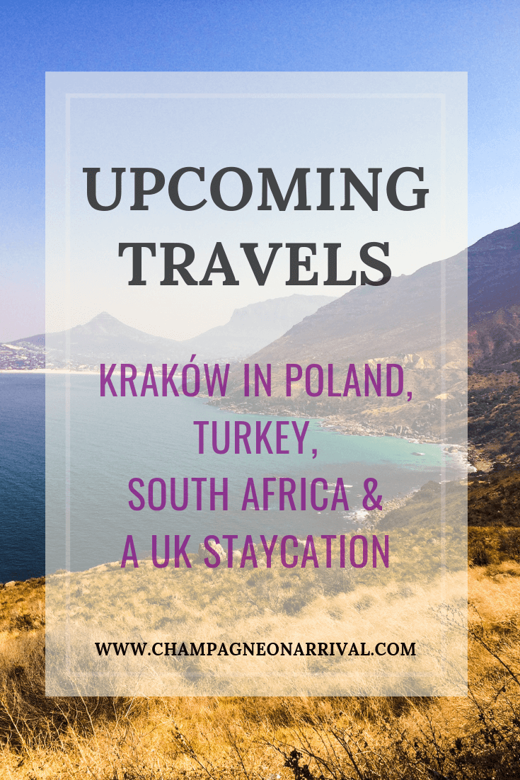 I have had an unconventional year in terms of travel; my holiday schedule usually runs like clockwork but somehow it's September and I haven't left the country (not including a few work trips). Bloody typical for when I decide to start a travel blog! However, that is all due to change with my upcoming travels in Kraków, Turkey, South Africa & a UK staycation! #travelinspiration #traveldestinations #Krakow #poland #southafrica #turkey #istanbul #turquoisecoast #ukstaycation