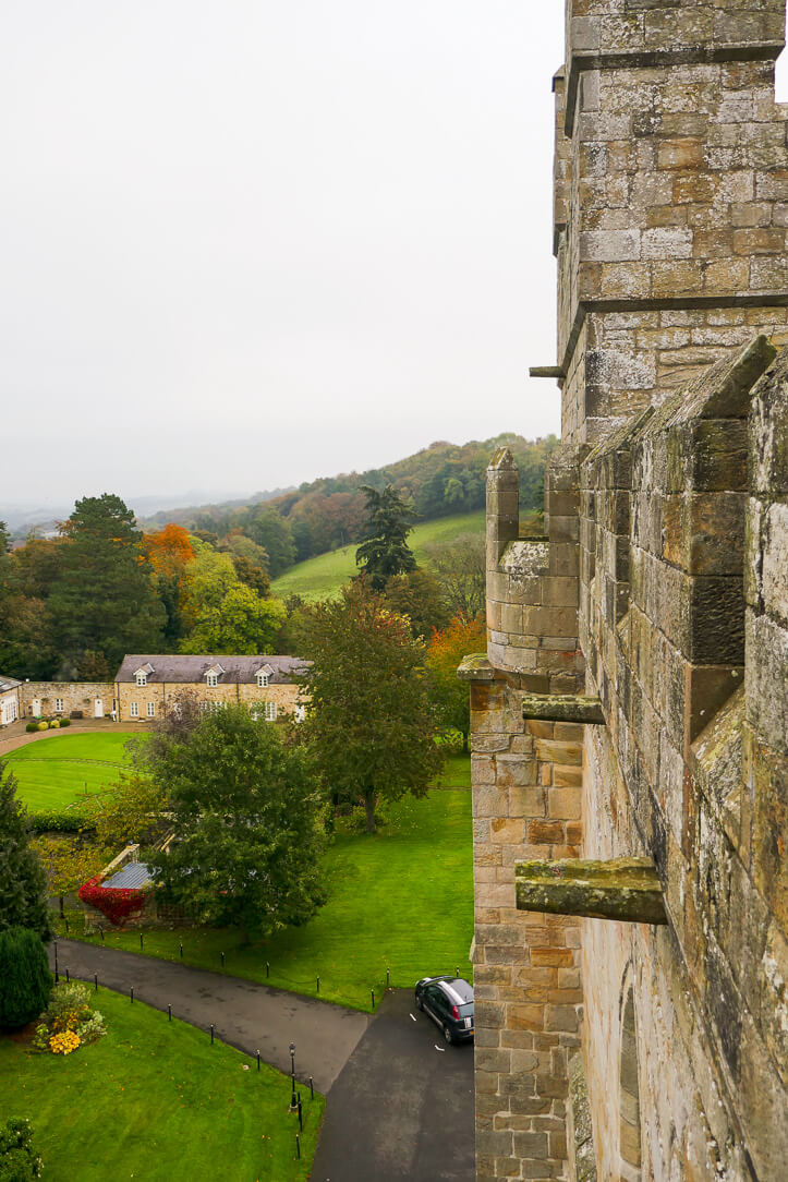 The views from Langley Castle, a luxury hotel in Hexham, Northumberland, England