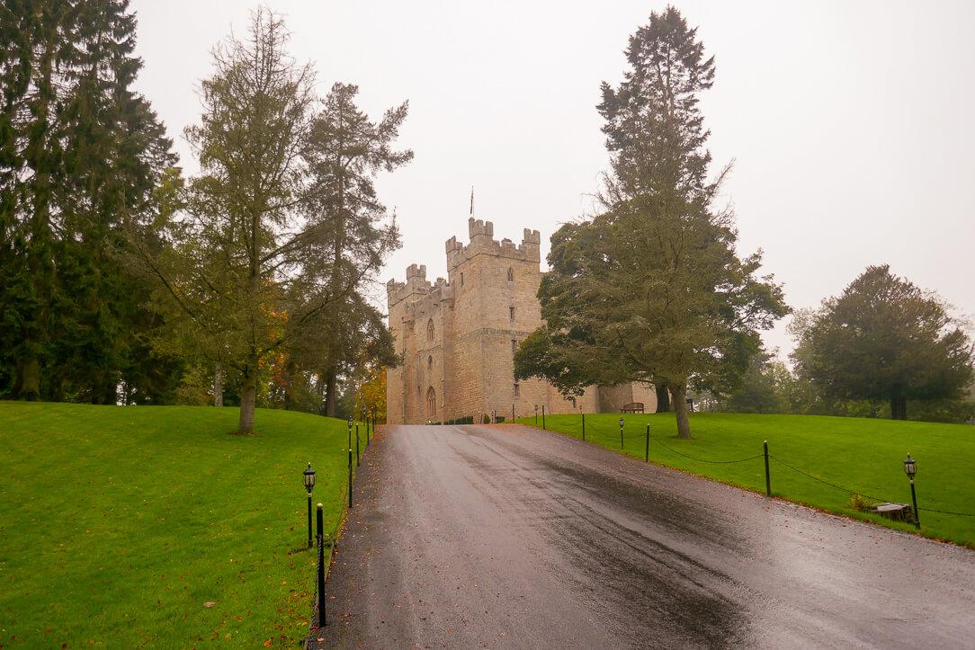 Langley Castle, a luxury hotel in Hexham, Northumberland, England