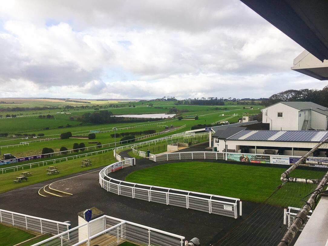 The views over Hexham Racecourse