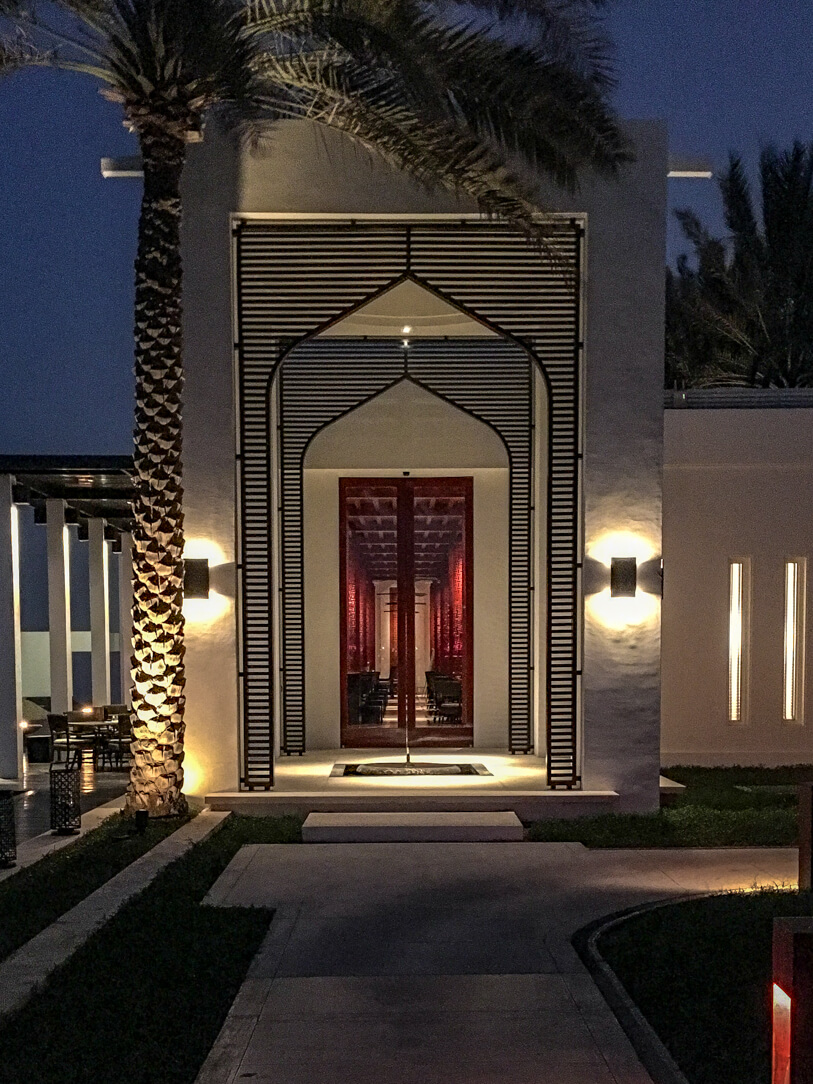 The Beach Restaurant at the Chedi Muscat, a luxury hotel in Oman