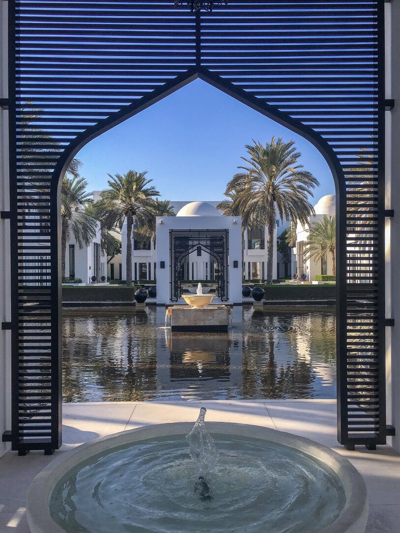 Moorish architecture at the Chedi hotel in Muscat Oman