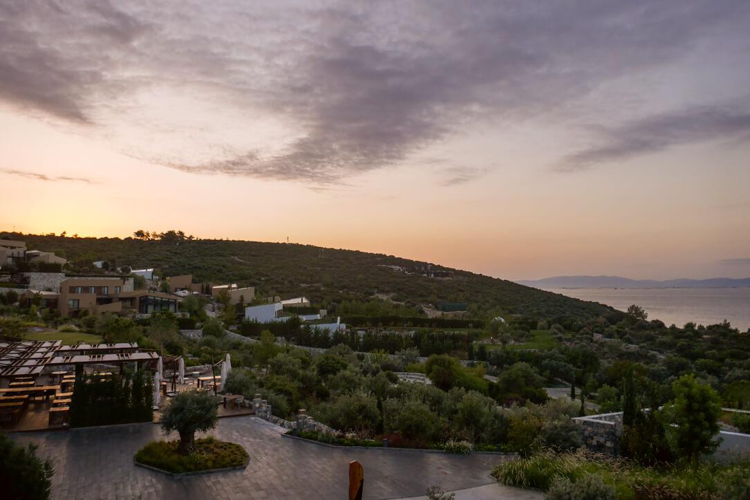 Watching the sunrise at a luxury spa hotel near Bodrum, Six Senses Kaplankaya Turkey a Luxury Hotel Review