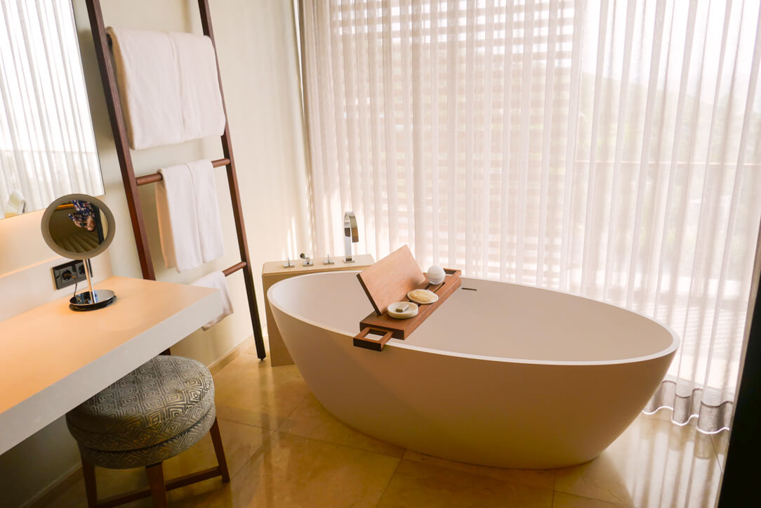 Egg shaped bath at this Bodrum luxury hotel