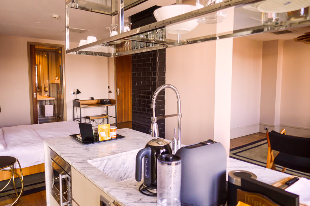 Kitchenette at our luxury boutique hotel Witt Istanbul Suites in Beyoğlu