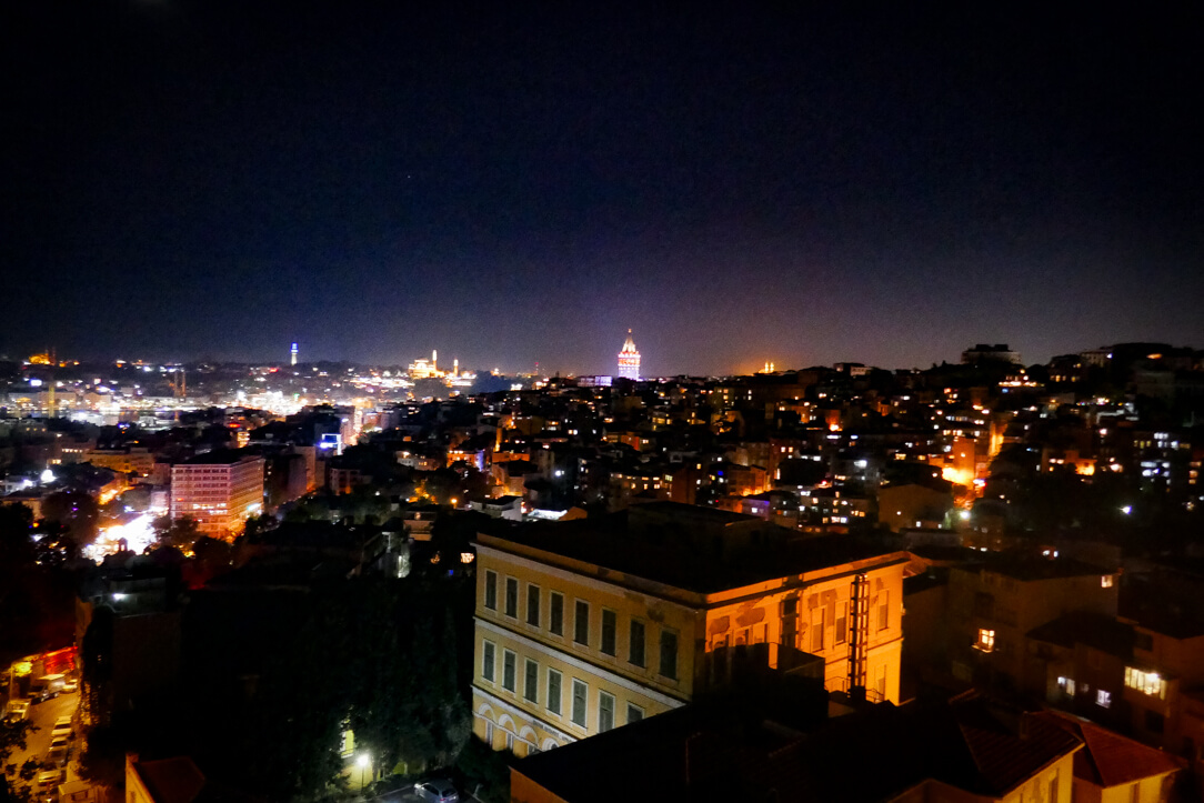 Night time view of Istanbul