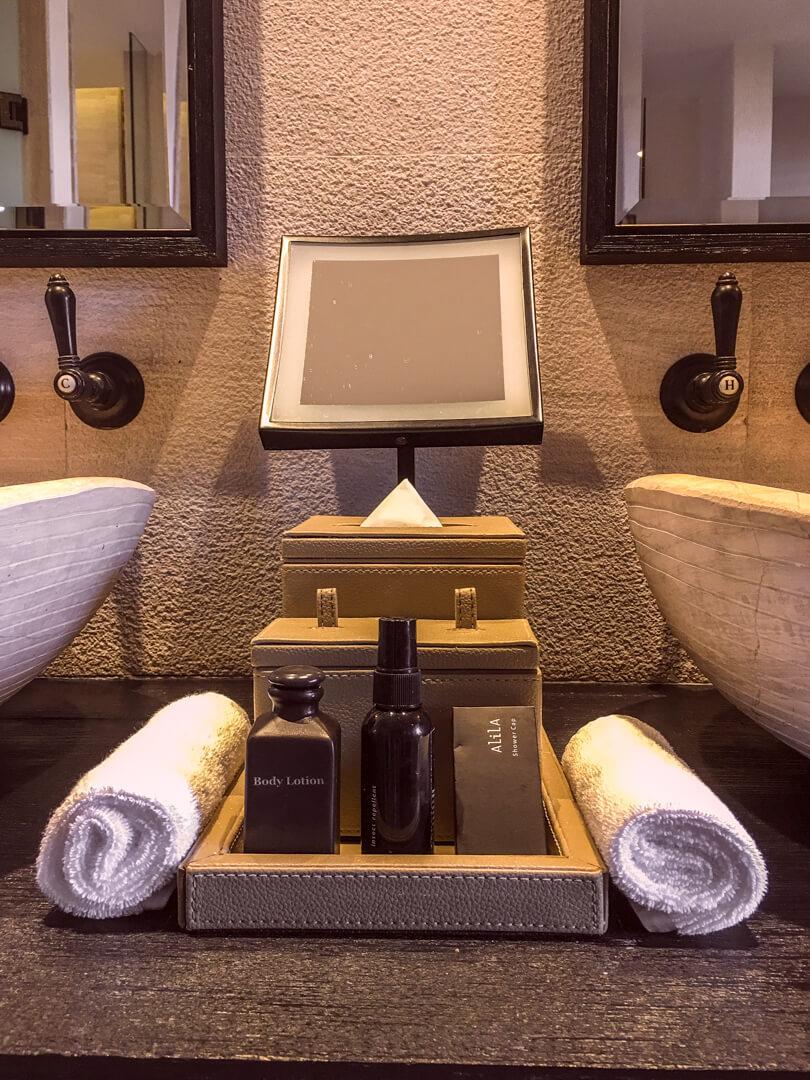 Bathroom at the Alila Jabal Akhdar luxury hotel