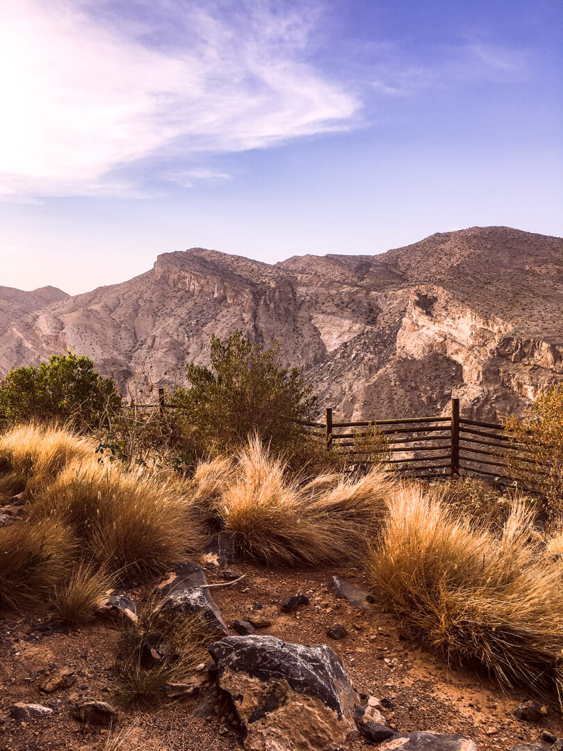View from our bedroom at the Alila Jabal Akhdar luxury hotel in Oman