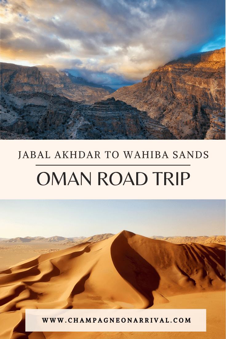 Pin: Oman Road Trip Jabal Akhdar to Wahiba Sands Desert