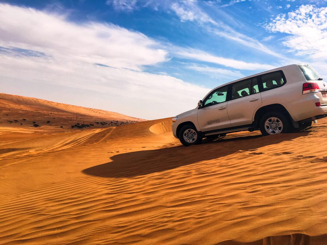 Dune bashing in Wahiba Sands Desert