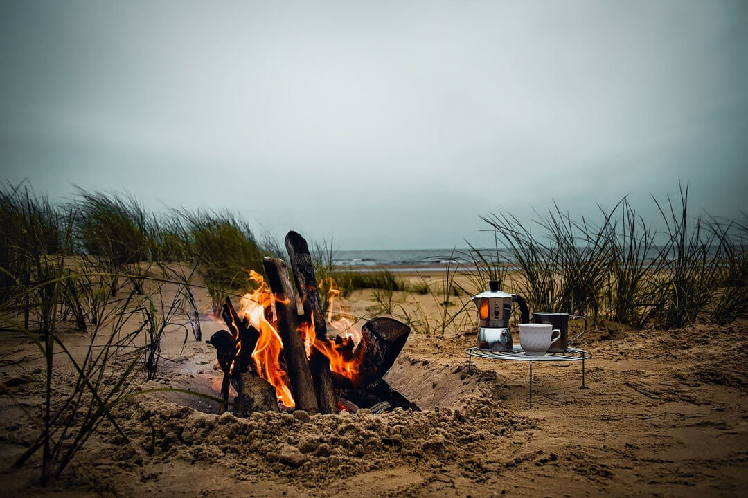 Slow Tourism for a More Immersive Travel Experience: Bonfire on the beach