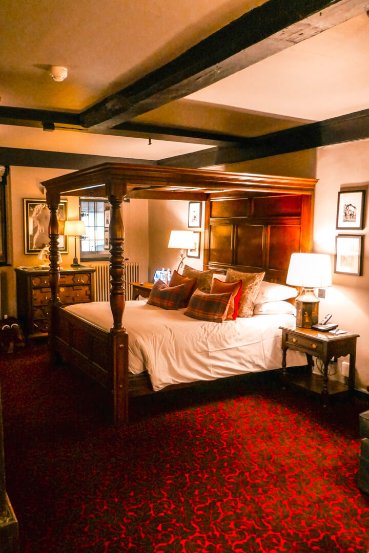 Junior Suite at the Lygon Arms, a boutique luxury hotel in the village of Broadway in the Cotswolds