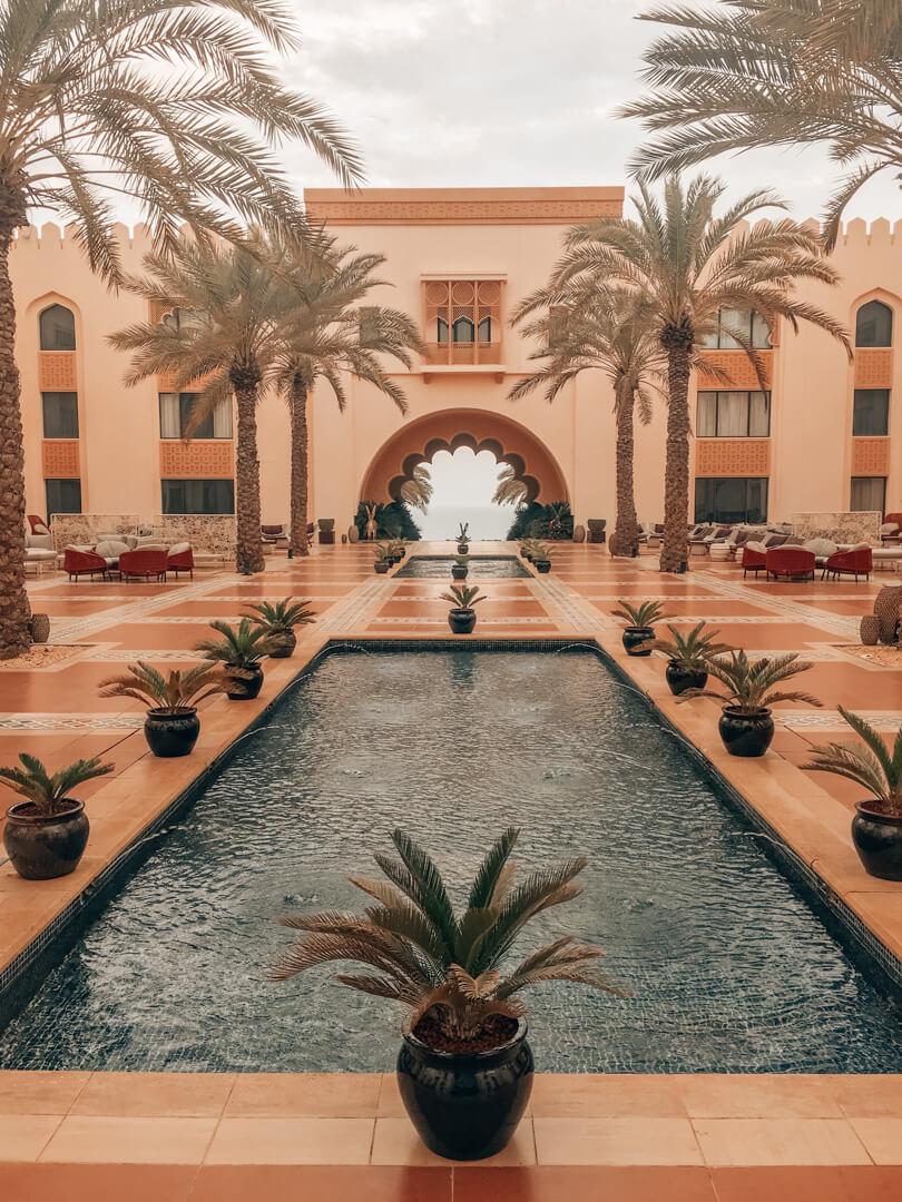 Courtyard at the Shangri-La Al Husn in Muscat Oman