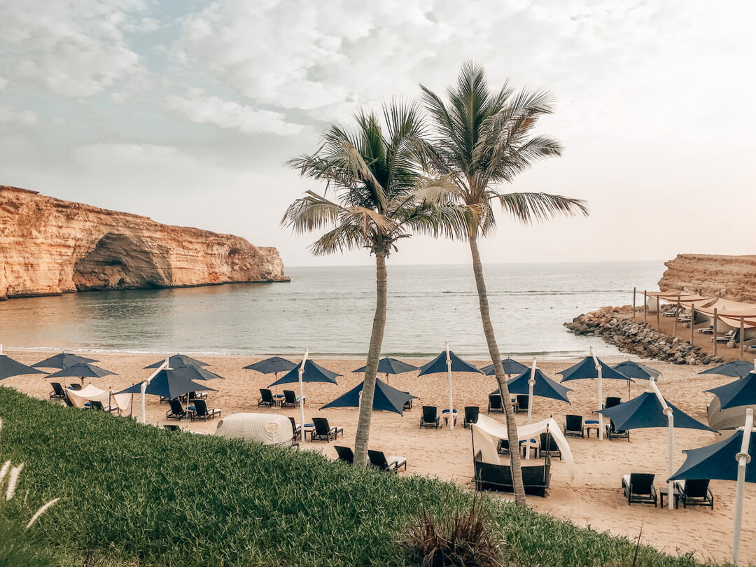 The Private Beach at the Shangri-La Al Husn in Muscat Oman
