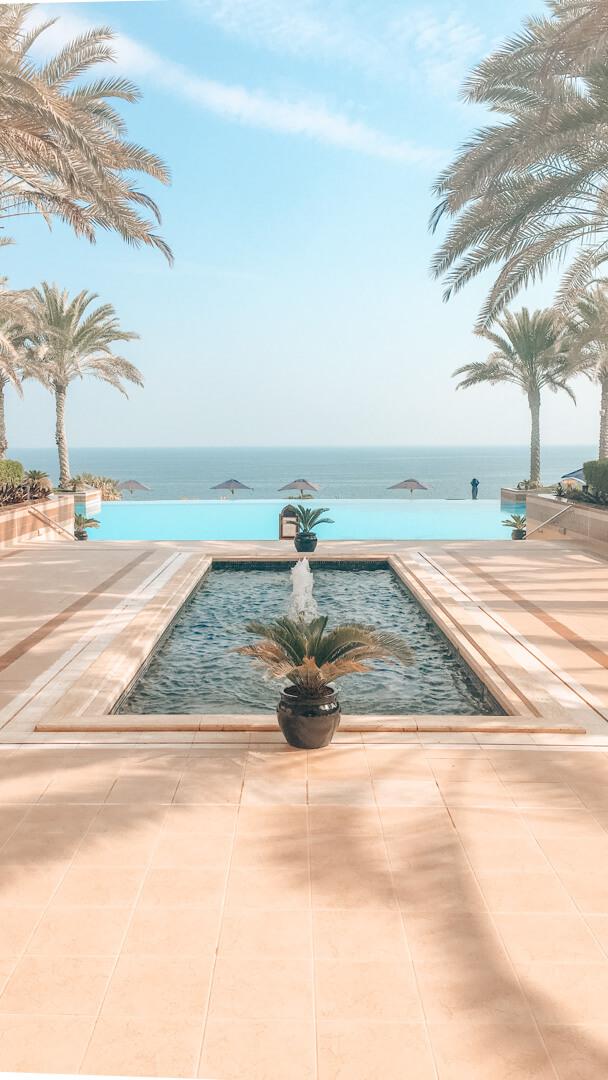 Infinity pool at the Shangri-La Al Husn in Muscat Oman