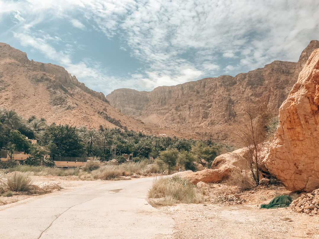 The road from Wahiba Sands to Muscat in Oman