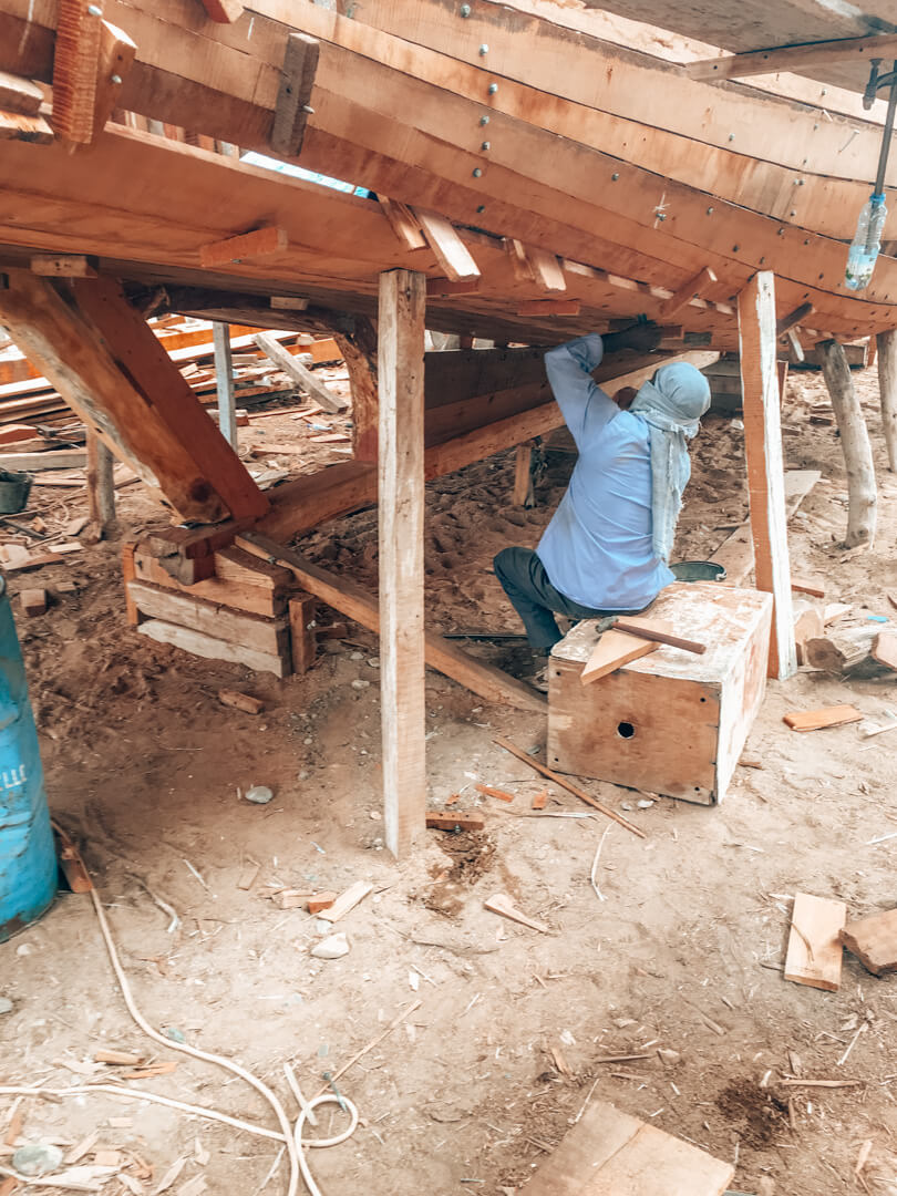Building traditional dhows in Sur Oman
