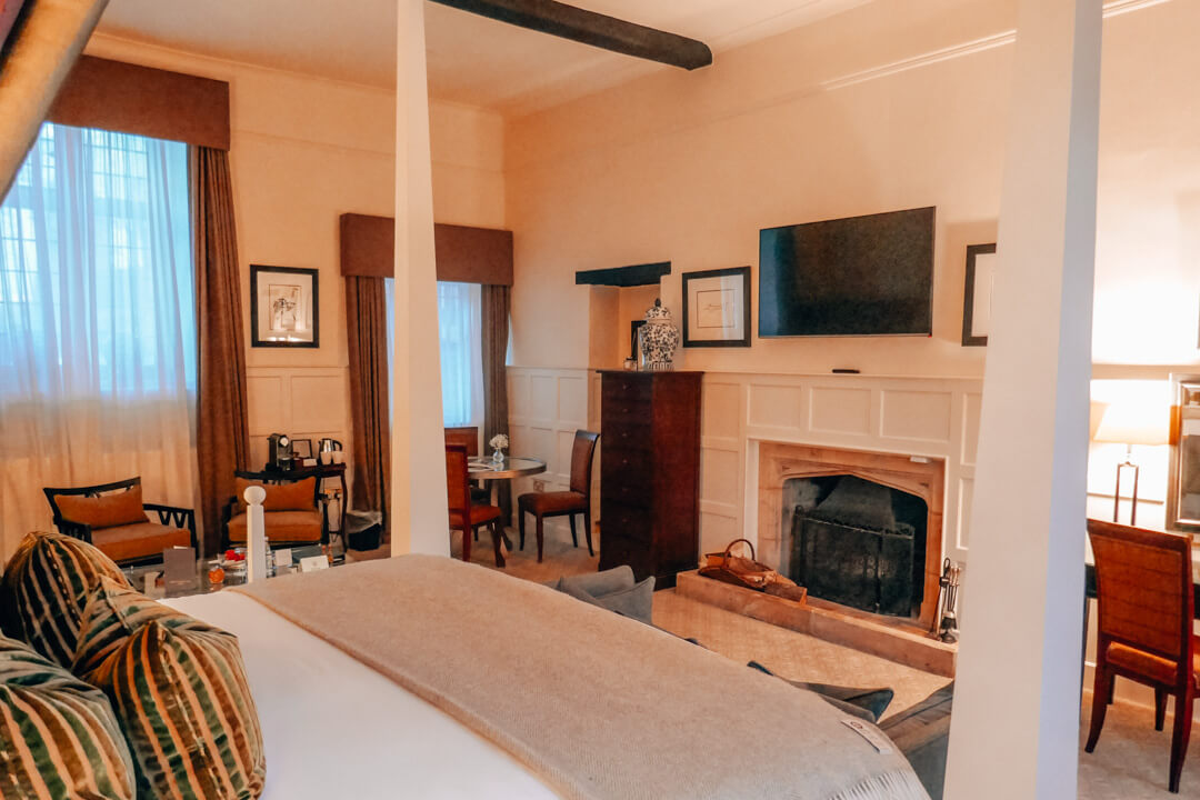 Valentine Suite at Slaughters Manor House, a luxury boutique hotel in the Cotswolds