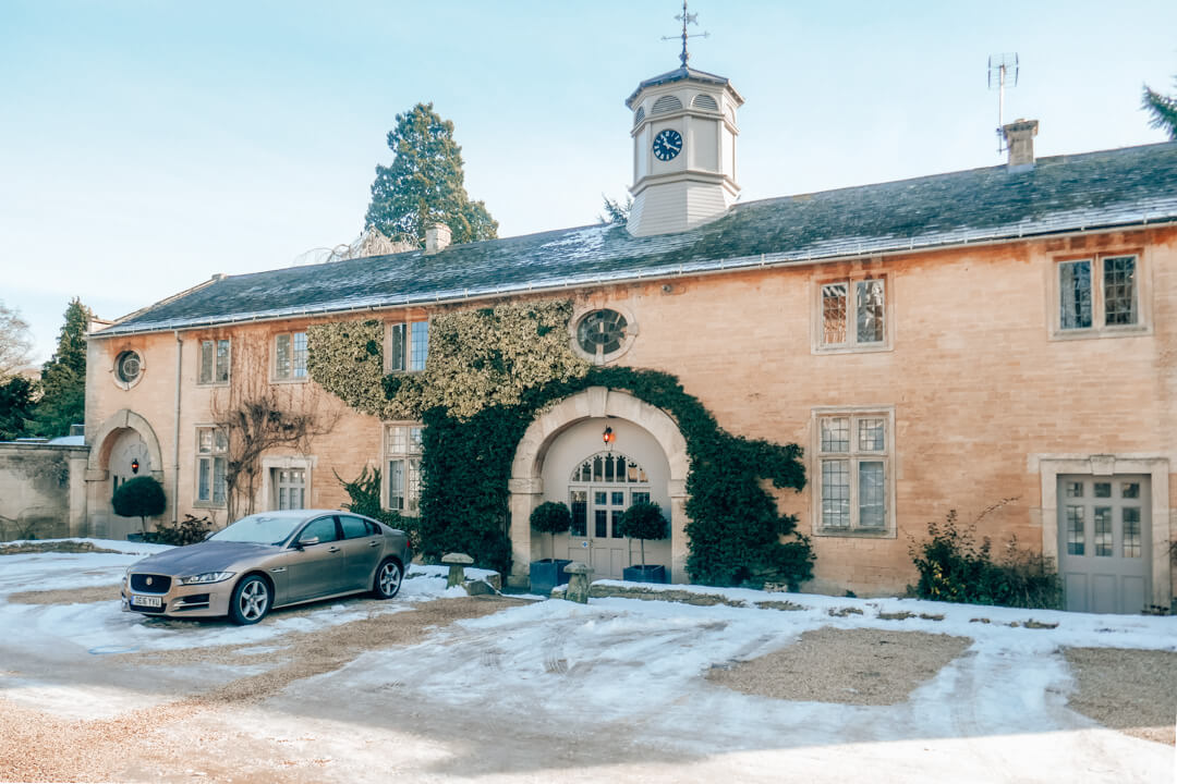 The coach house at Slaughters Manor House Hotel, a luxury boutique hotel in The Cotswolds