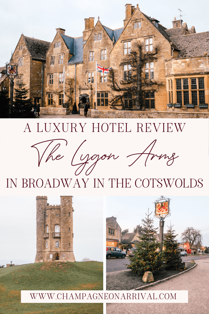 Pin for A Luxury Hotel Review of The Lygon Arms in The Cotswolds Village of Broadway, England