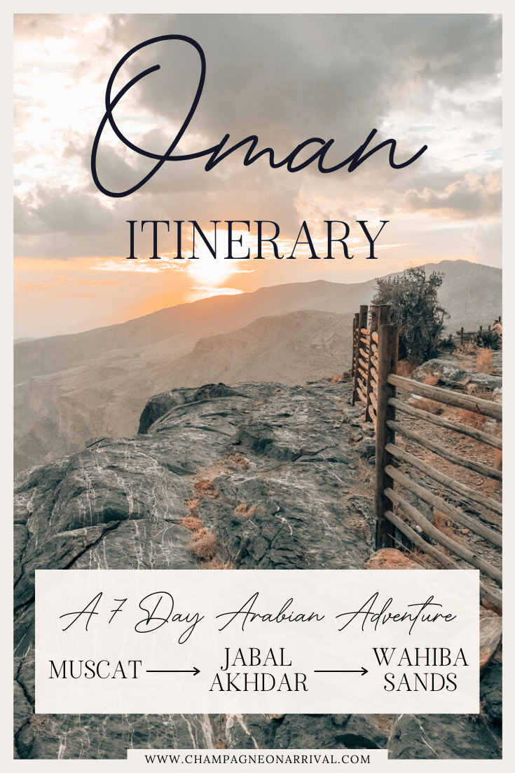 Pin for A Complete 7 Day Oman Itinerary with Bonus Travel Tips