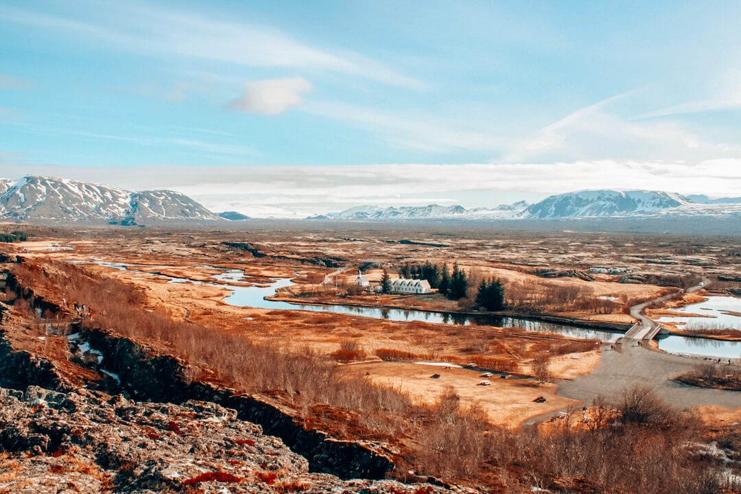 View across Thingvellir Nation Park on our Private Golden Circle Tour in Iceland
