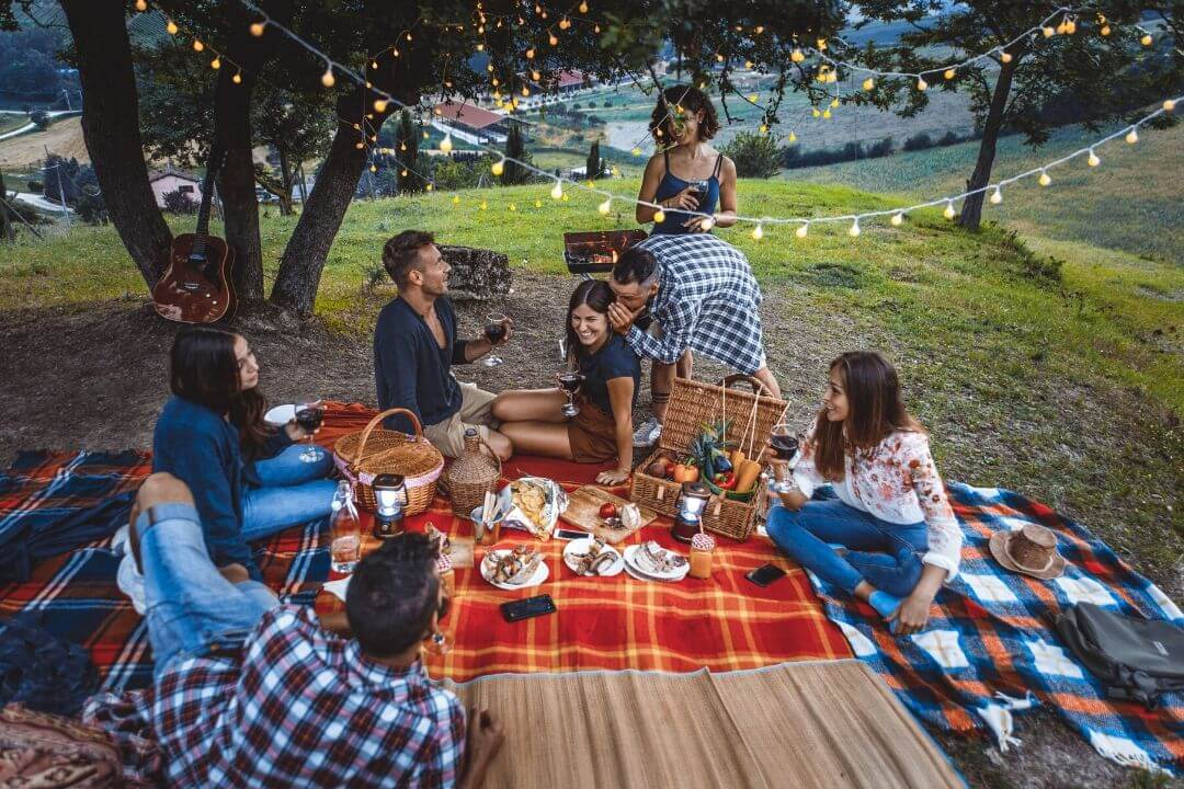 Staycation Benefits, a picnic with friends