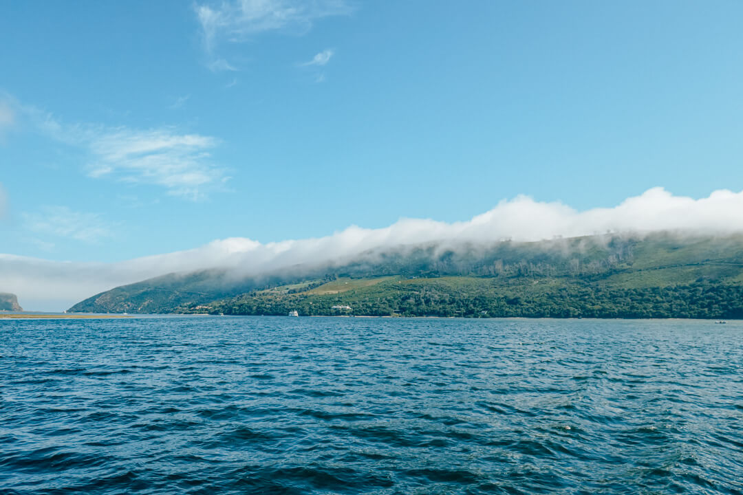 Clouds rolling over the Western Head in Knysna