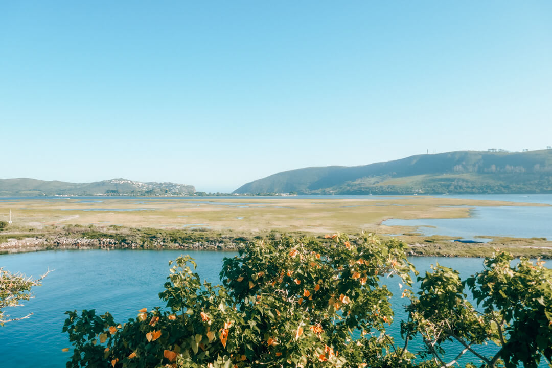 The view of the infamous Knysna Heads from Thesen Island