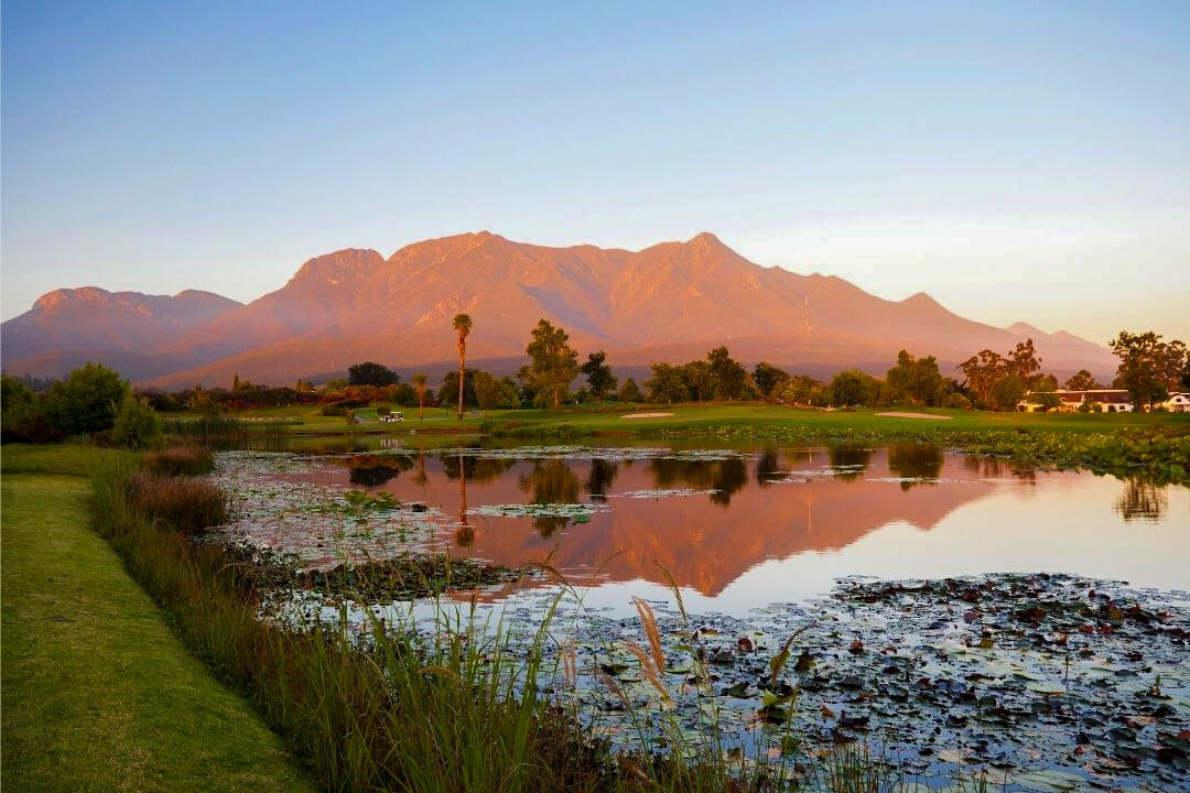 Outeniqua Mountains outside George on the Garden Route in South Africa