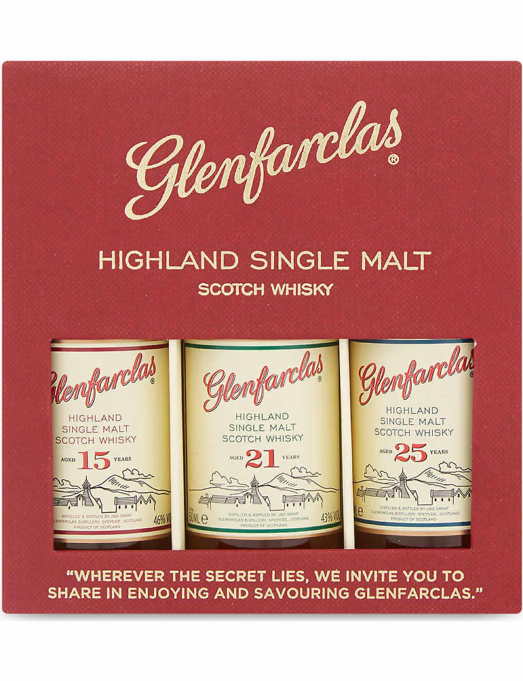 Glenfarclas Whisky Minis - Luxury Travel Gifts for Him