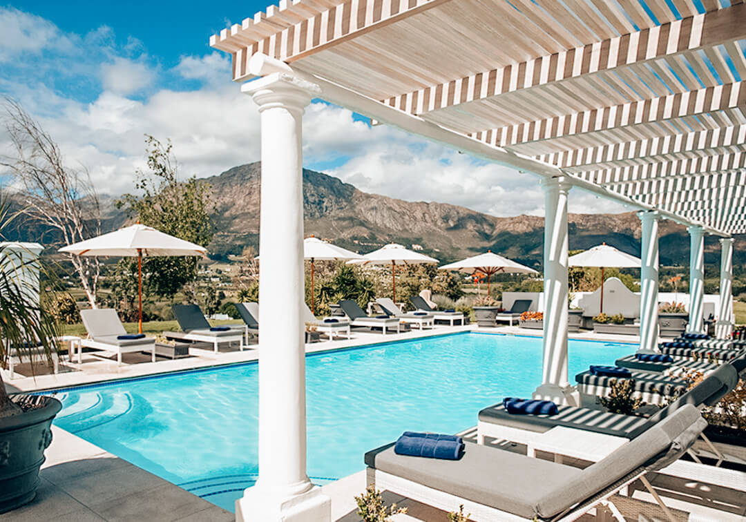 Outdoor Pool at Mont Rochelle in South Africa