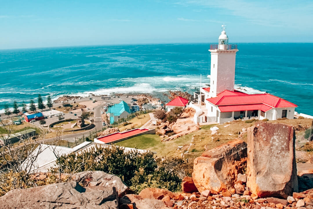 The coastline of Mossel Bay in South Africa