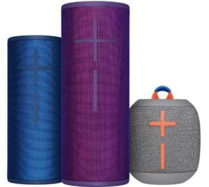 Luxury Travel Gifts for Him: UE Boom 3 & Wonderboom bluetooth speakers